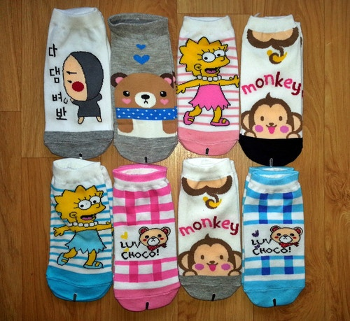 8 pairs of mix-lot all about characters socks brand new hot sale!!