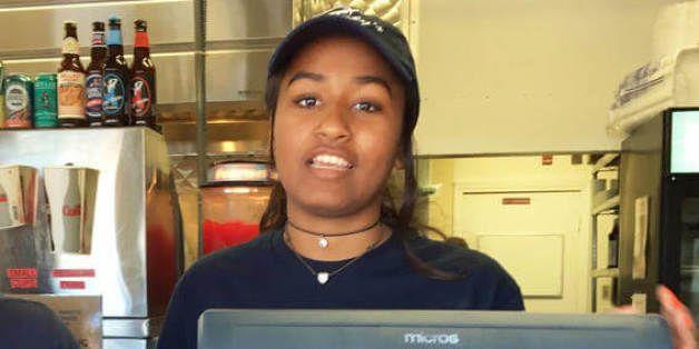Sasha Obama y su trabajo veraniego como cajera en un restaurante