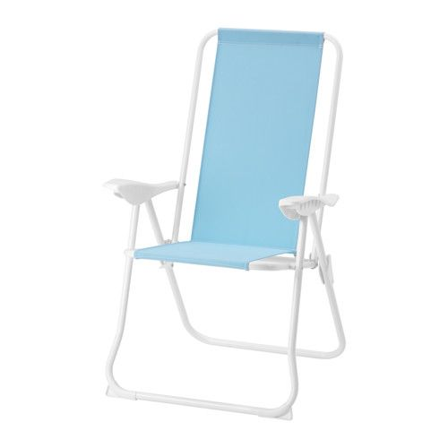 IKEA - HÅMÖ, Reclining chair, foldable/light blue, , Made of heavy polyester fabric, which is very durable.The back can be adjusted to five different position.This chair is easy to pack and carry since it is both lightweight and foldable.
