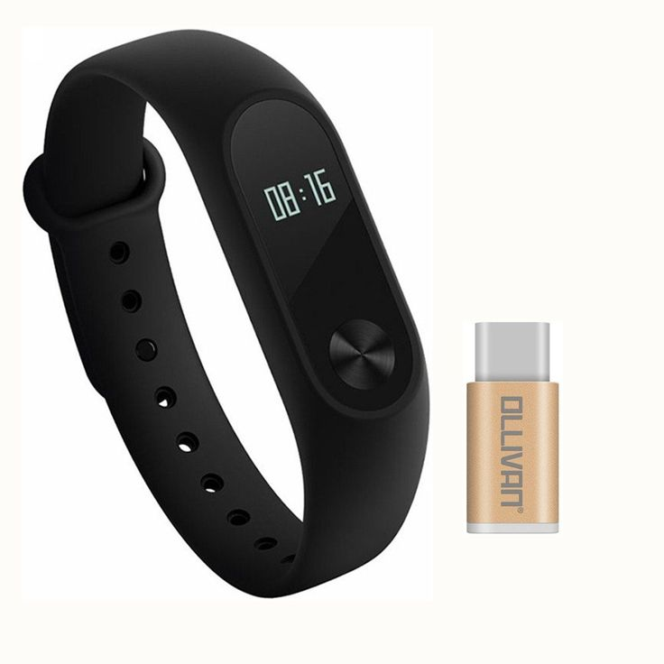Original Xiaomi Mi Band 2 Wristband Bracelet With OLED Display Smart Heart Rate Fitness Monitor Tracker Bluetooth 4.0 Pedometer IP67 Waterproof Plus Ollivan Type C Converter. Ollivan Type C Converter + Mi Band Version 2 with 0.42 inch OLED Display. IP67 Waterproof and dust-proof Design. Automatic sleep monitoring analyzes your sleep quality. Support Bluetooth 4.0 Android 4.4 or iOS 7.0 and above smart phones. Sync with the app to analyze your fitness and sleep activities to help you…