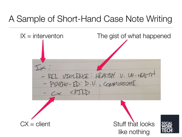 Ten Ways To Jump Start Your Case Note Writing (and other Types, too!) by @SocialWorkTech