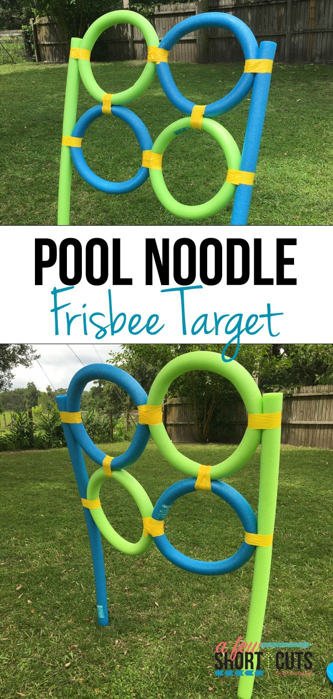 Is there anything you can't do with Pool Noodles? Check out this super fun Pool Noodle Frisbee Target DIY! The kids will love it!