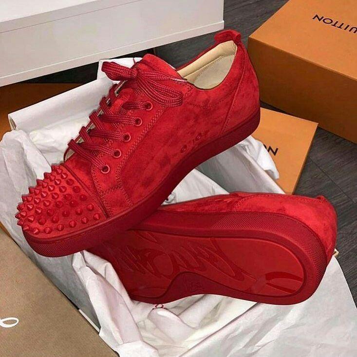 6568fb06787 Red Velvet Christian Louboutin Sneakers / Only Me ...