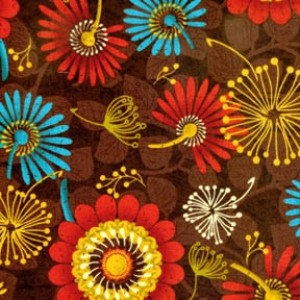 ALMOST GONE Astral Summer by Paintbrush Studio, Brown Dandelions: Quilting Warehouse, Pretty Fabrics, Quilt Fabric