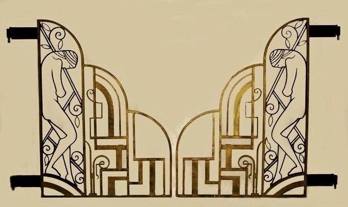 70 best art deco gates images on pinterest art deco art art deco design and art deco home. Black Bedroom Furniture Sets. Home Design Ideas