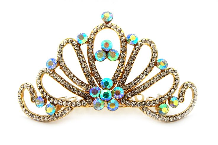 Coroa de strass dourada #princesa #casamento #noiva #coroa