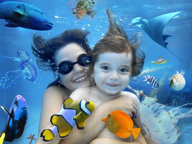 voda, bazén, plávanie, potápanie