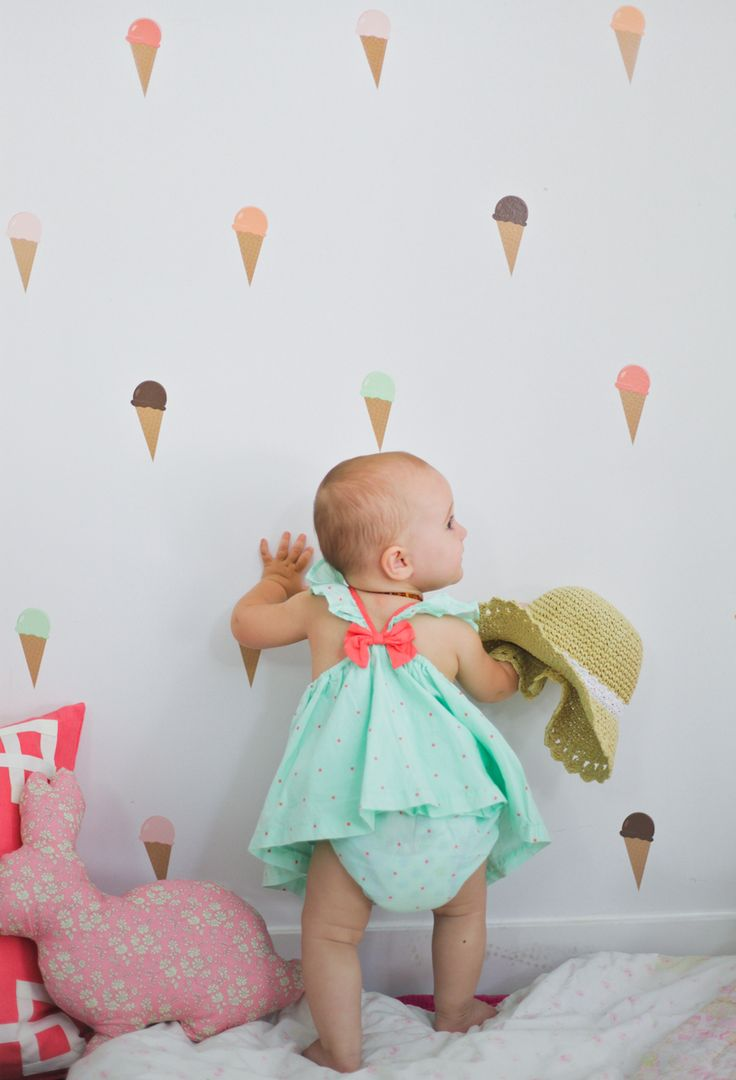 Urban Walls Ice Cream Cone Decals. Pink & Mint (http://www.uwdecals.com/products/ice-cream-cones.html)