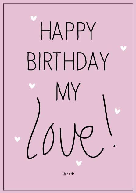 Elske: happy birthday
