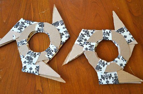 ninjago zane costumes diy | homemade ninjago throwing stars