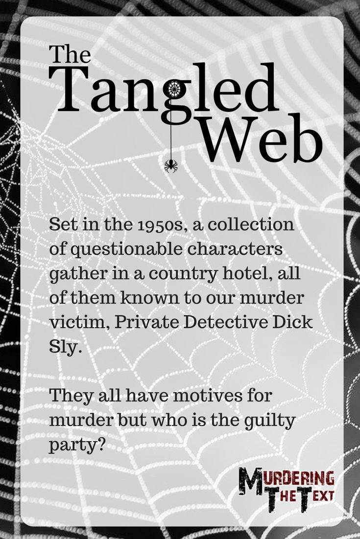 A 1950s murder mystery - the first that we ever wrote.