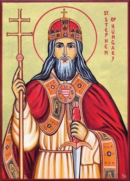 Stephen of Hungary (975? - 1038)  The year of his birth is uncertain, but many details of his life suggest that he was born in or after 975. He was the only son of Grand Prince Géza and his wife, Sarolt, who was descended from the prominent family of the gyulas.Read the rest of his story here: https://www.facebook.com/photo.php?fbid=671671689582657&set=a.488124947937333.1073741829.100002194965757&type=1&theater