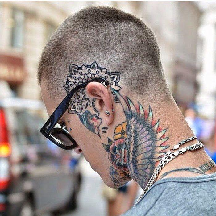 15 Nacken Tattoo-Designs für Männer 2 | Tattoo hals