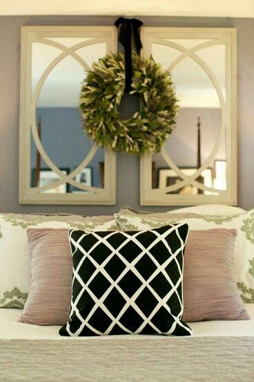 Mirror Decor Above Bed