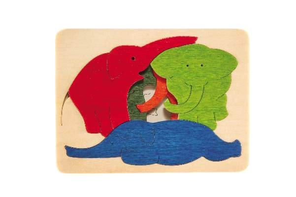 George Luck ELEPHANTS GL313 WOODEN PUZZLE
