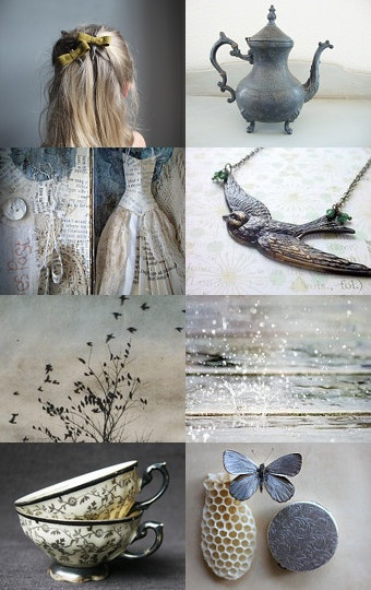 -Hello everyone , Beautiful board as always ladies. Lets do any or all the colors in this mood board. Grey  French blue a touch of Brown and White .....  [www,fashionmonarch.com]