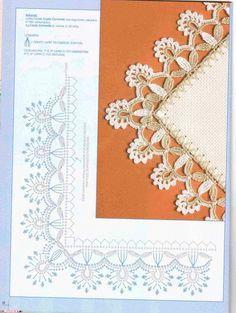 Crochê Gráfico: Barrados de crochê com canto maravilhosos