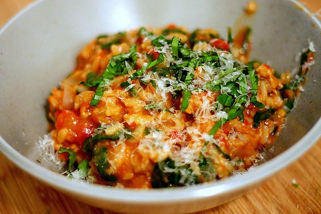 Smitten Kitchen tomato and sausage risotto: Sausages Risotto, Fun Recipe, Food, Tomatoes Risotto, Dinners, Nom Nom, Favorite Recipe, Smitten Kitchens, Risotto Recipe