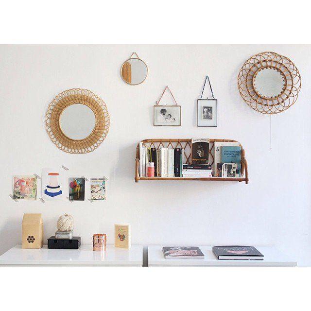 Décoration murale, miroirs en rotin, décoration, home, wall decoration, décoration internaute #madecoamoi @mariekkefr