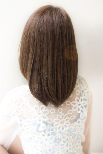 大人可愛い小顔ミディアムストレート 460【2013 秋 冬】【髪型 ヘアカタログ】【縮毛矯正 パーマ】