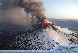 Volcanes de Chile: Volcán Hudson en erupción.