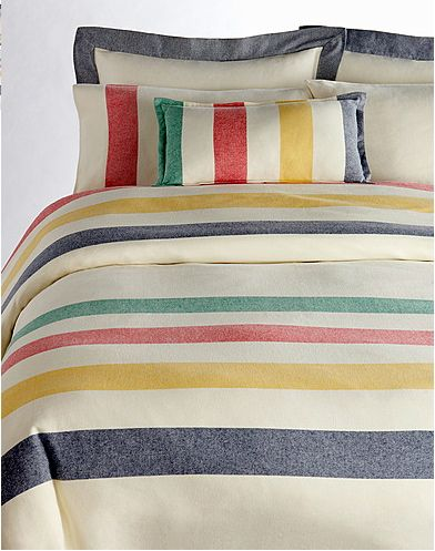 the bay Hudson Bay Company striped flannel sheets