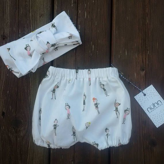 Baby girl bloomers and headwrap set tutu BALLET DANCER