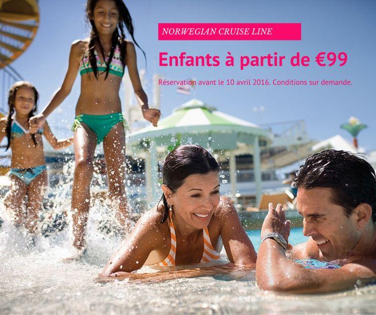 #Promos Famille  Tarif Enfants €99 chez Norwegian Cruise Line !  #croisière…