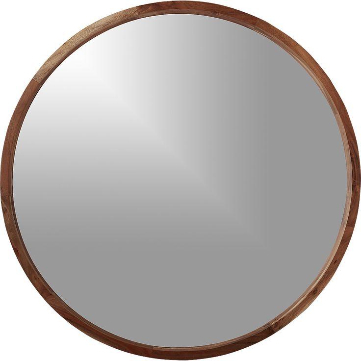 acacia wood 40 mirror