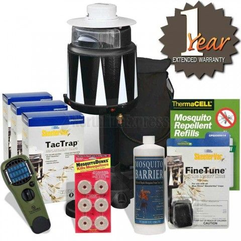 http://www.northlineexpress.com/4-step-basic-mosquito-control-bundle-19468.html The 4 necessary steps to mosquito control are Eliminate, Trap, Repel and Protect. This Basic Mosquito Control Bundle provides all 4 steps in one easy kit, making controlling your biting insect problems worry free.
