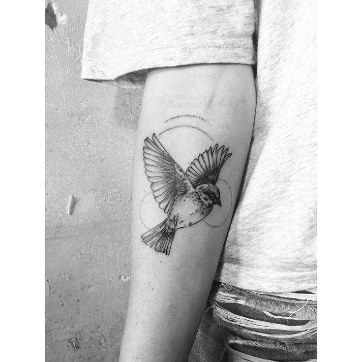 Mockingbird tattoo #mockingbird #tattoo #lineartattoos #stylistic #girlswithtattoos