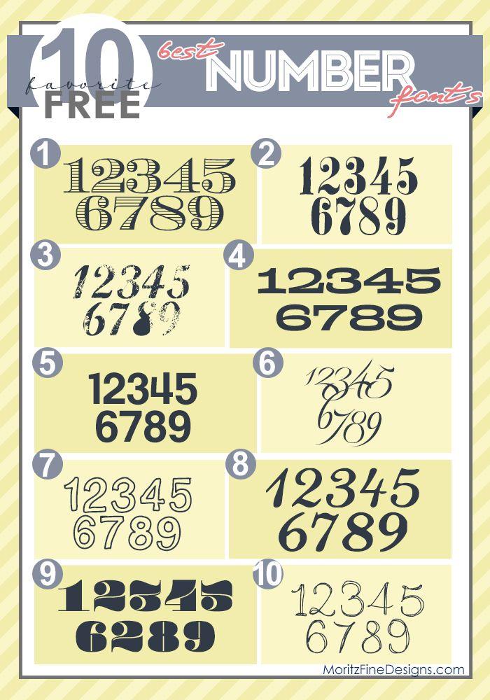 Best Free Number Fonts Number fonts, Fancy fonts, Number