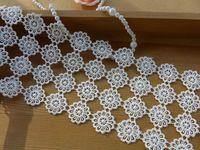 Кружевной отделкой, Венеция круглый кружевной узор, Четыре ряда круг накладка для свадебное платье пояса