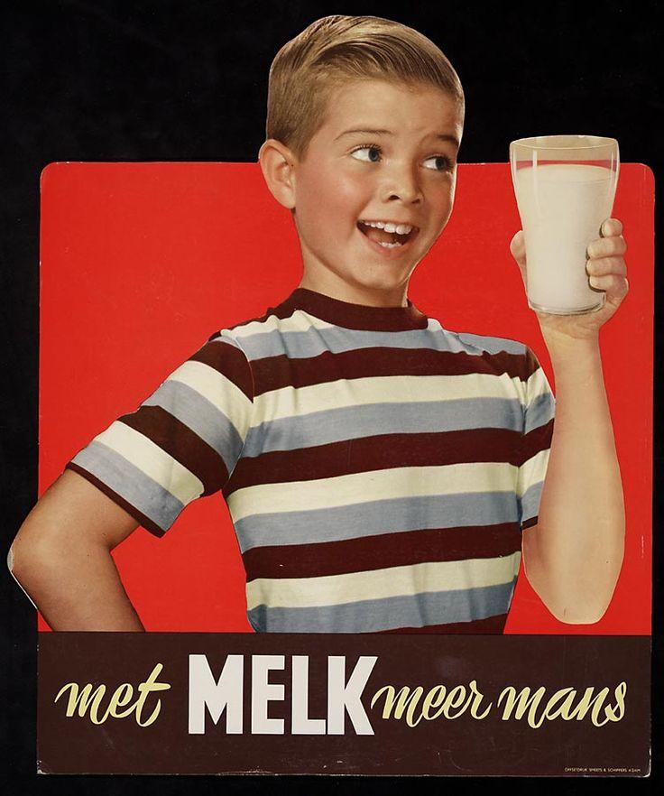 met melk meer mans:Oude Hollandse reclameposters