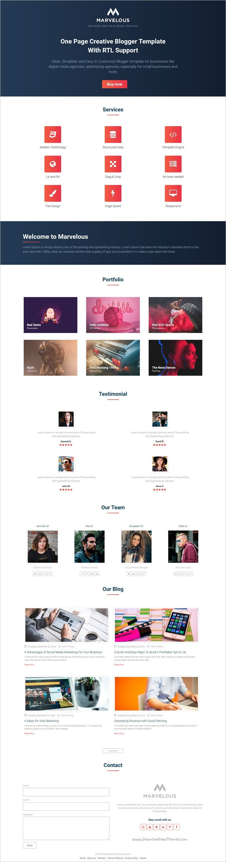94 best best responsive blogger template collection images on marvelous one page creative blogger template with rtl support accmission Images