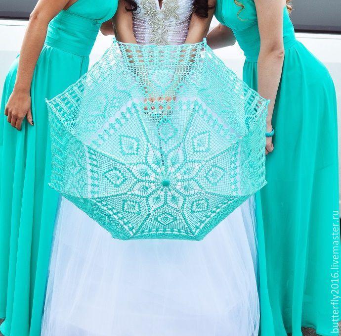 Купить Зонтик для свадьбы (возможно исполнение в разных цветах) - комбинированный, зонтик, свадьба, фотосессия, невеста