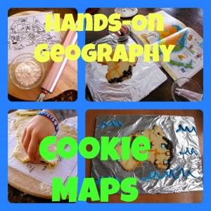 Cookie Maps (instead of salt dough) for Hands-On Geography - good for pirate parties too