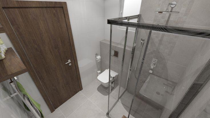 Malá kúpeľňa so sprchovacím kútom