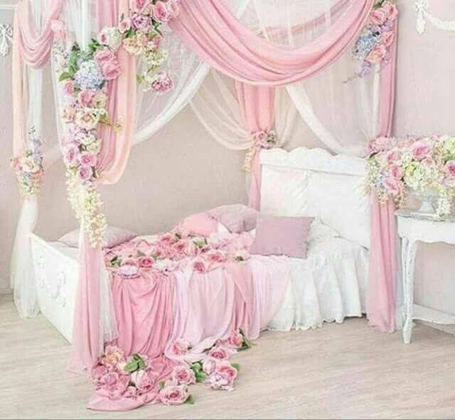 I could do this with the bed I have by suspending the canopy curtains from the ceiling. I can paint the bed white.