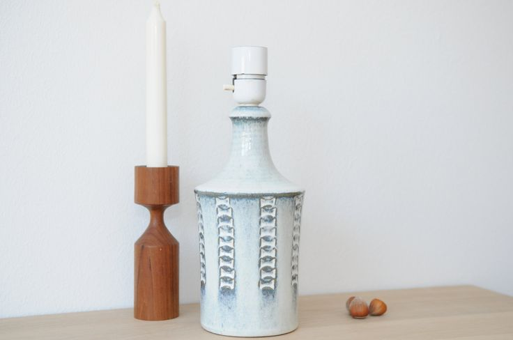Stoneware Lamp Base form Søholm Pottery, Bornholm, Denmark by nORDICbYhEART on Etsy