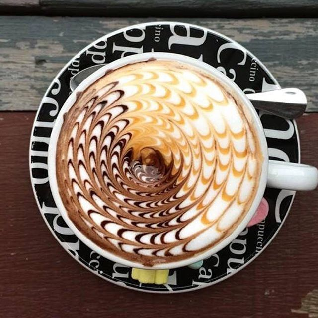 As if you needed more proof that coffee is art. Amazing skill in this barista art.