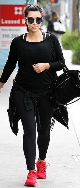 Kim Kardashian : Shoes – Nike Purse – Balenciaga