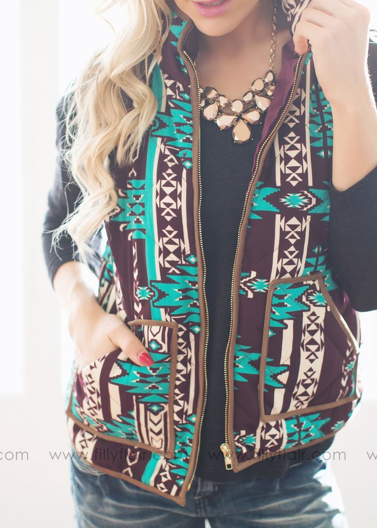 Vests are a must! And this printed one is SO cute.