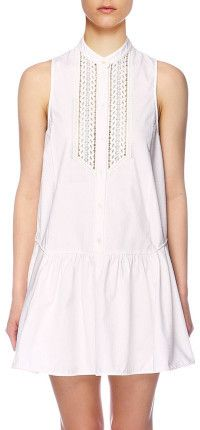 Little white dress - Lover PLATEAU SWING DRESS