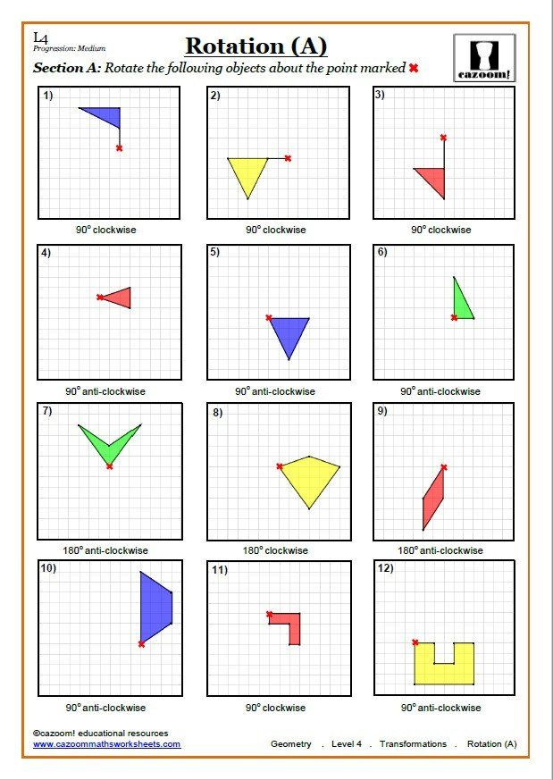 Geometry Transformations Worksheet Answers Transformations Worksheets With Answers In 2020 Geometry Worksheets Transformations Math Reflection Math