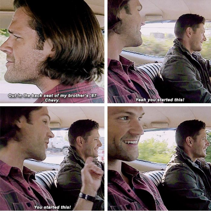 "11x04 Baby [gifset] - ""You started this!"" - Sam and Dean Winchester; Supernatural"