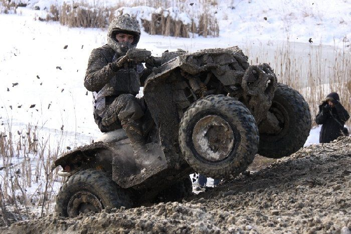 With us You Can Try It on professional 250cc and 450cc quads
