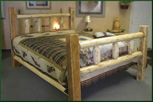 Timber Frame Log Bed 785 95 The Square Timber Beams On