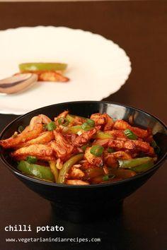 chilli potato - tasty and easy to make dish #indianfood #food #recipes #vegetarian #snack #potato