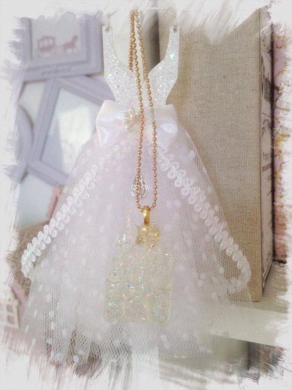 charm necklace cinderella castle castello di AliceFairydream